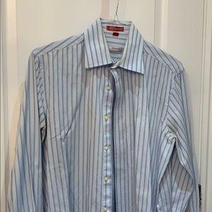 Made in Korea Blue Striped Button Down
